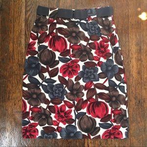 Boden Belted Floral Pencil Skirt. Size 4R.